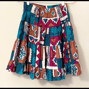 Vtg 80s Western Circle Skirt Cowgirl Rodeo M